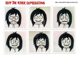 Jeff the Killer Expressions by RavenluvsSesshomaru