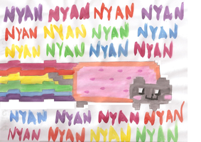 Nyan Cat by xTaintedHeart