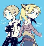 Kid and Sorian by demitasse-lover