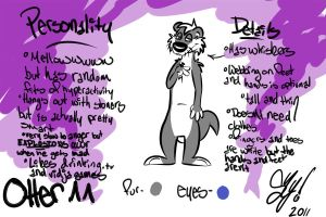 Otter Character Ref by ShySketch