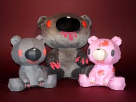Gloomy Bear Papercraft by Skele-kitty