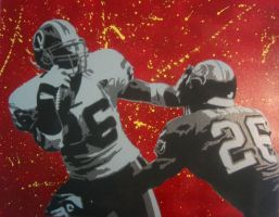Clinton Portis on Canvas by incubus72787
