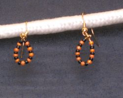 Halloween Loop Earrings by LadyTal