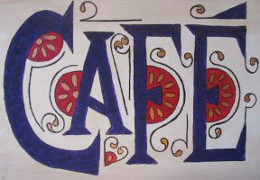 Cafe Sign by CaffeinatedKatie