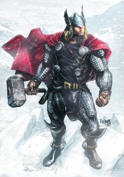 Thor sketch - Colors by me Jan. 2013 by NormanWong
