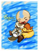 CG-edit: Aang and Appa by GaGaGakun