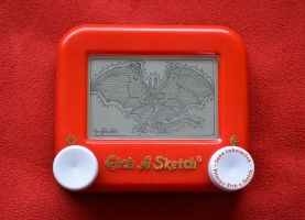 Mushu Etch A Sketch by pikajane