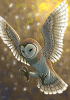 Barn owl by Faezza
