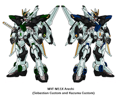MVF-M11X Arashi Gundams by SPARTAN-251