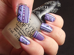 Matted Lined Nails by Ithfifi