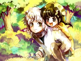 HxH : Killua and Alluka by Sa-Dui