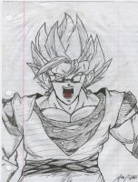 Drawing of Vegetto - 01 by DJFeLiX