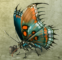 Evil Mutant Butterfly by Natal-ee-a