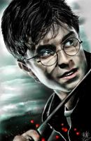 iPad finger painting of Harry Potter (with color) by chaseroflight