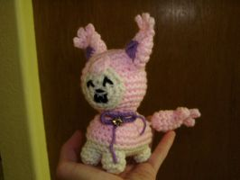 Crochet Skitty Bell plush by Taikxo