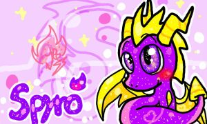 Chibi Spyro Wallpaper Gift by PoyosEpicProductions