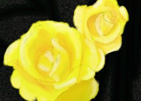 Yellow Rose Speed Paint by Shutsumon