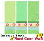 Interior Ideas-Floral Green Walls by allison731