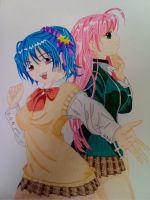Kurumu and Moka by shinku2187