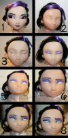 GoGo Tomago | Step By Step | How To Repaint A Doll by claude-on-the-road