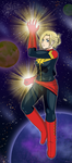 Annie as Captain Marvel by PDJ004