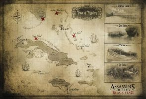 AC IV Black Flag Map by OrochimaruXDD