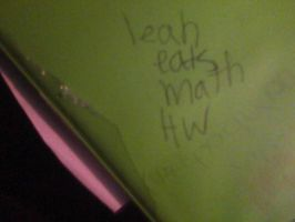 What Leah Wrote on my Binder by JustAlittleScene