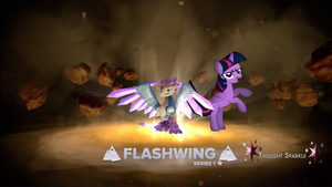 Twilight Sparkle, and Flashwing. by Flutterflyraptor