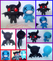 BoI:R - Azazel and ??? Plushies by StellasStar