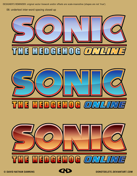 Sonic the Hedgehog Online Logo (Final Versions A) by DoNotDelete