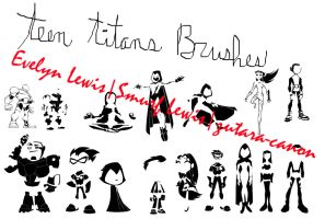 Teen Titans brushes by zutara-canon