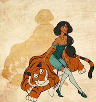Disney Girls: Jasmine by KimberBee