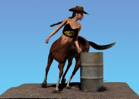 Barrel riding centaur by hemi-426
