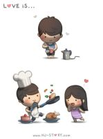 44. Love is... Cooking for You by hjstory