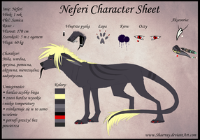 Neferi Character Sheet by Shaerray