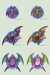 GDEA: Zubat, Golbat and Crobat by Waltonsaurus