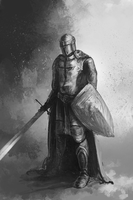 Knight doodle by Shattered09