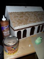 Gothic-ish Dollhouse 1:24 WIP 6: Shingles by kayanah