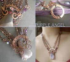 Purple Angle Necklace by popnicute