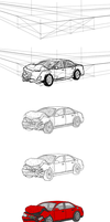 Car Crash Drawing Step-by-Step by yodalr