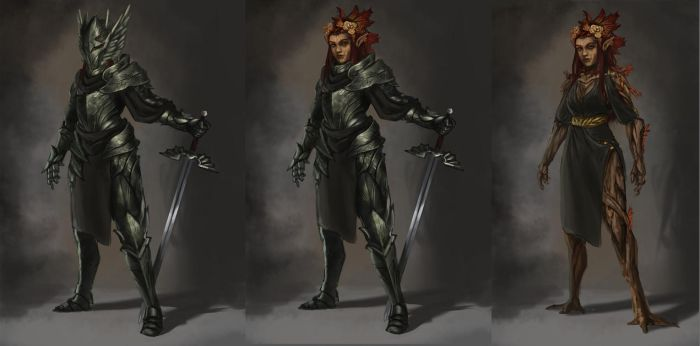 Commission: Dryad Knight by L3monJuic3