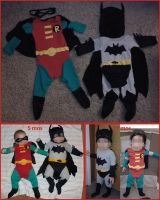Batman and Robin first Halloween costumes by mylilones