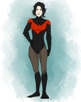 Nightwing gender bend by CassperClearie