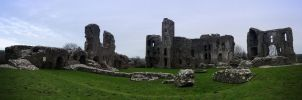 Llawhaden Castle Panoramic by H00dMan
