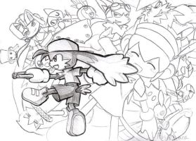 Many chars from Klonoa by Fushidane