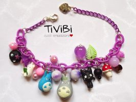 Totoro and Jiji bracelet by tivibi