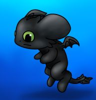 Toothless Chibi by RegalChaos