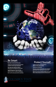 CSU Cyber Security Awareness Poster Fall 2016 by TheRebelPhoenix