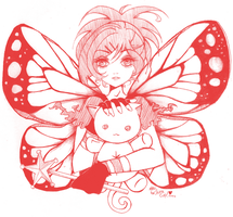 GaiaOnline: Solitary Butterfly by OMGitsCHINA