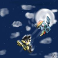 Daring Do Rainbow Dash Dream by JuBrony